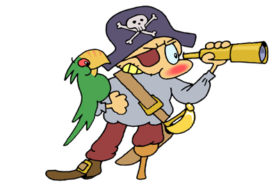 011 pirate 01 The magician & the parrot