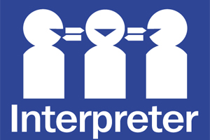 interpreter symbol text An excellent interpreter